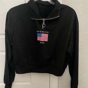 "NEW Women's ""Brooklyn NYC"" cropped sweatshirt"